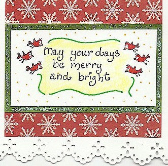 May Your Days Rubber Stamp 2342C