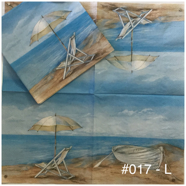 NS-017 Beach Chair Boat Napkin for Decoupage