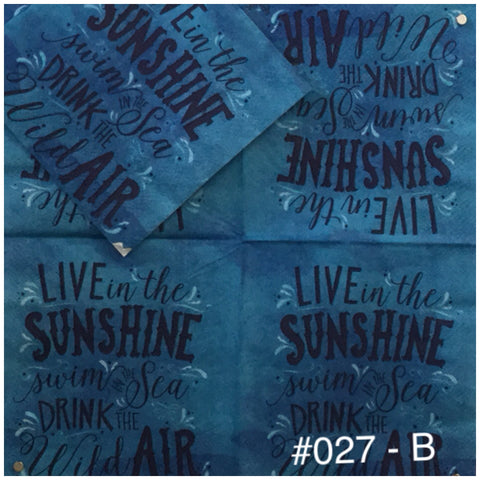 NS-027 Live in the Sun Napkin for Decoupage