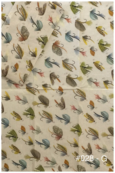 NS-028 Flies Fishing Napkin for Decoupage