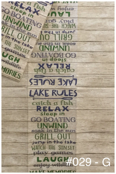 NS-029 Lake Rules Napkin for Decoupage