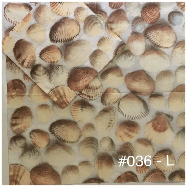 NS-036 Shell Background Napkin for Decoupage