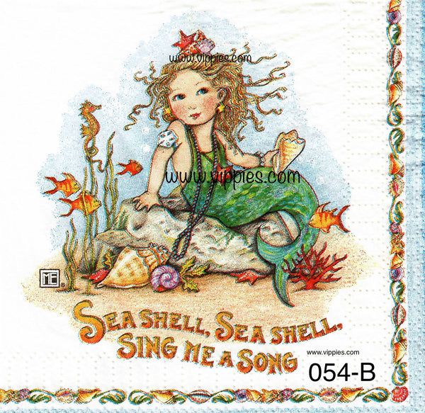 NS-054 Mermaid Mary E. Napkin for Decoupage