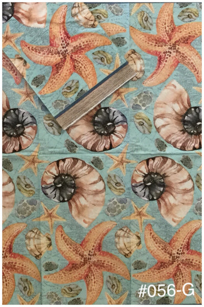 NS-056 Starfish/Shells Napkin for Decoupage
