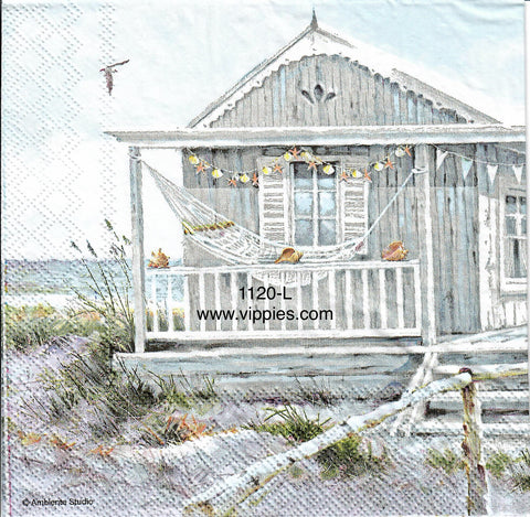 NS-1120 Beach Cabin Napkin for Decoupage