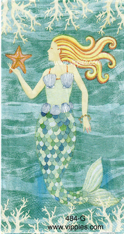 NS-484 Mermaid Waves Guest Napkin for Decoupage