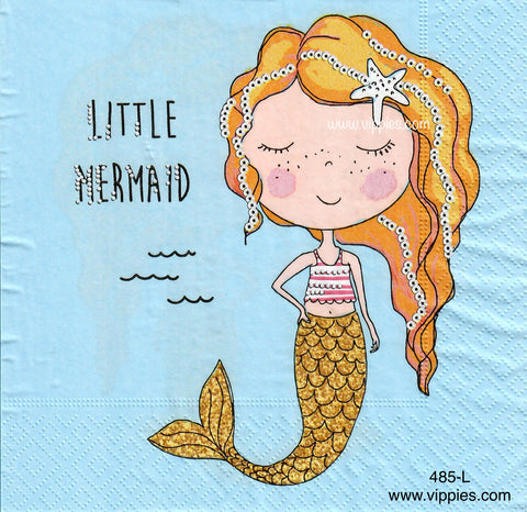 NS-485 Little Mermaid Napkin for Decoupage