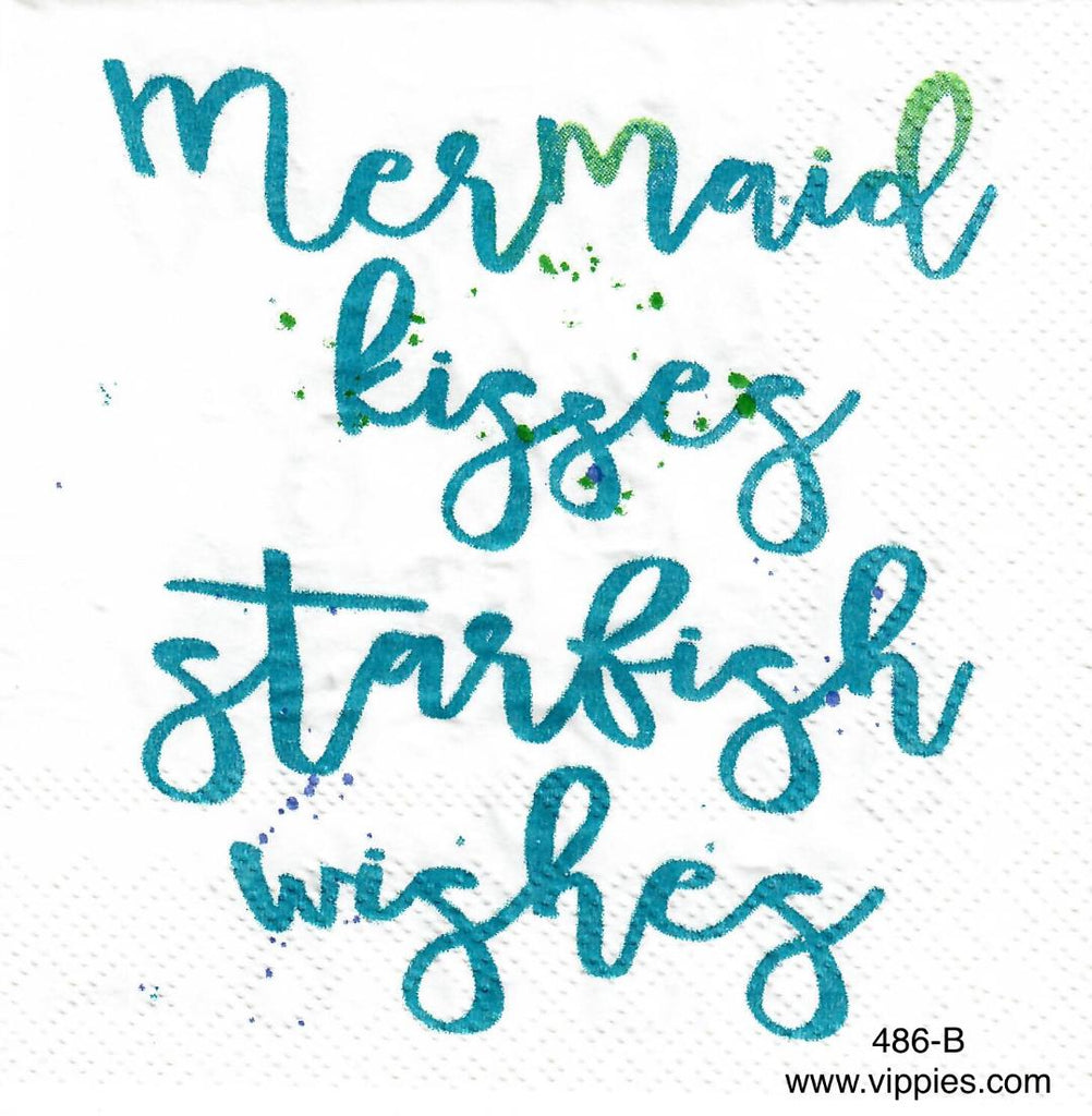 NS-486 Mermaid Kisses Napkin for Decoupage