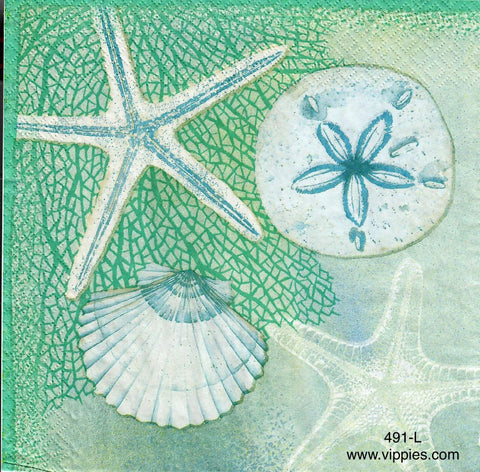 NS-491 Tidal Pool #1 Napkin for Decoupage