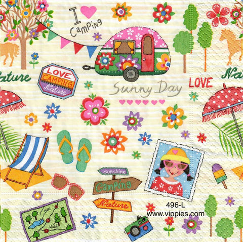 NS-496 Camping Napkin for Decoupage