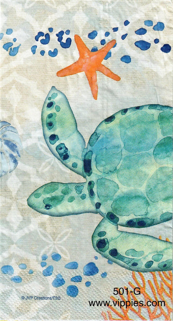 NS-501 Coastal Turtle Napkin for Decoupage