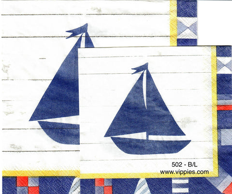 NS-502 Ship Shape Napkin for Decoupage