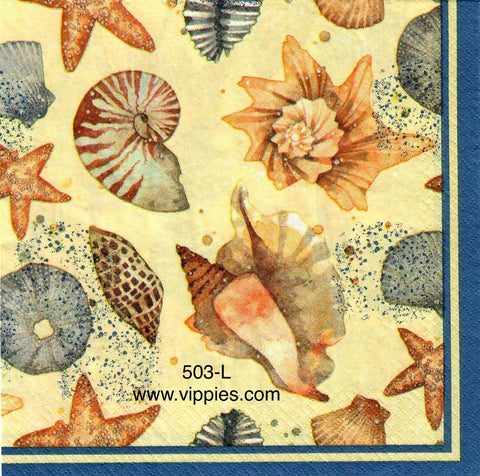 NS-503 Coastal Shells Napkin for Decoupage