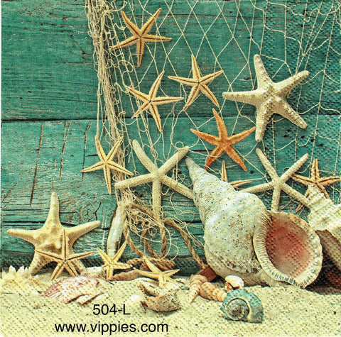 NS-504 Starfish/Net Napkin for Decoupage
