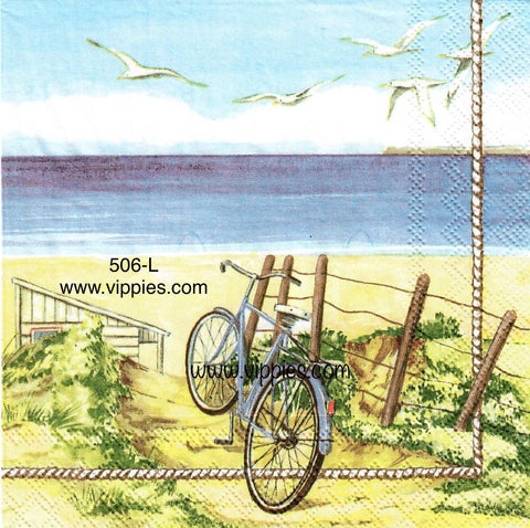 NS-506 Beach Bike Napkin for Decoupage