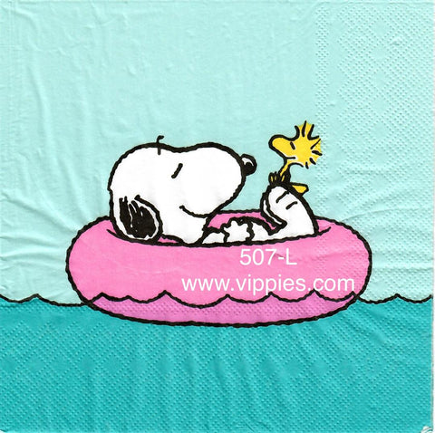 NS-507 Snoopy Pool Tube Napkin for Decoupage