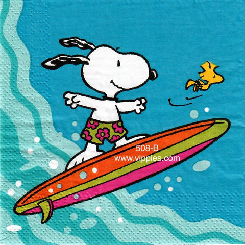 NS-508 Snoopy Surf Napkin for Decoupage