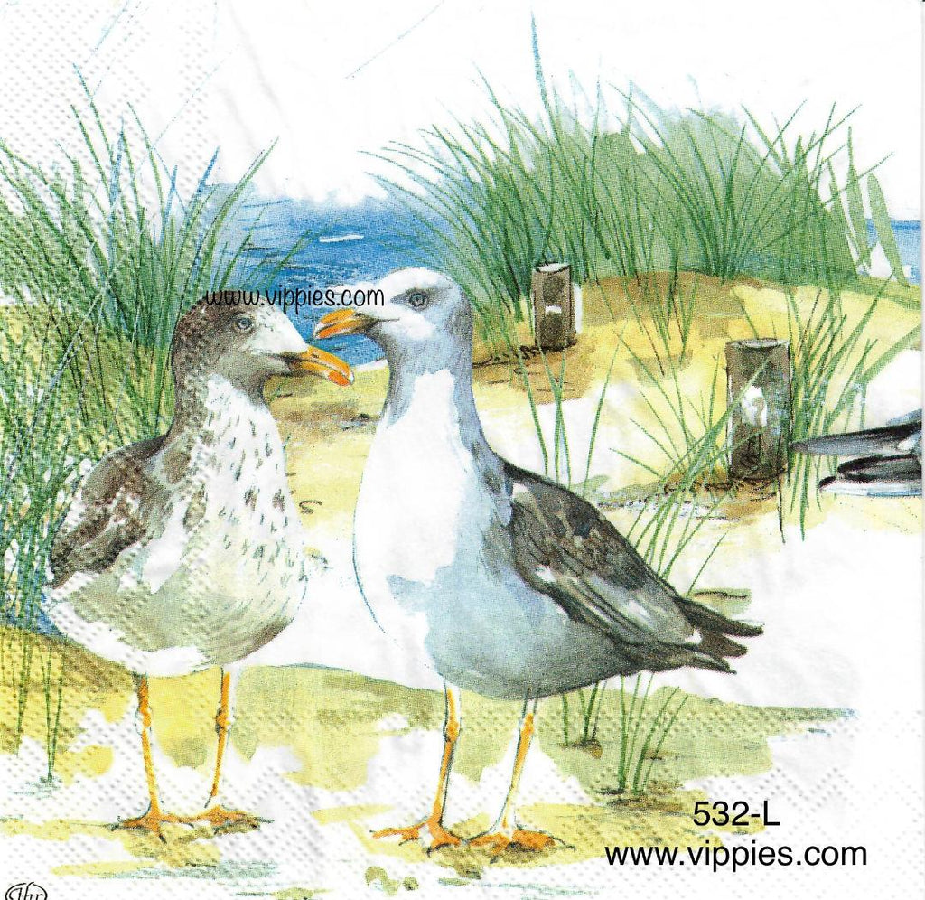 NS-532 2 Seagulls Napkin for Decoupage