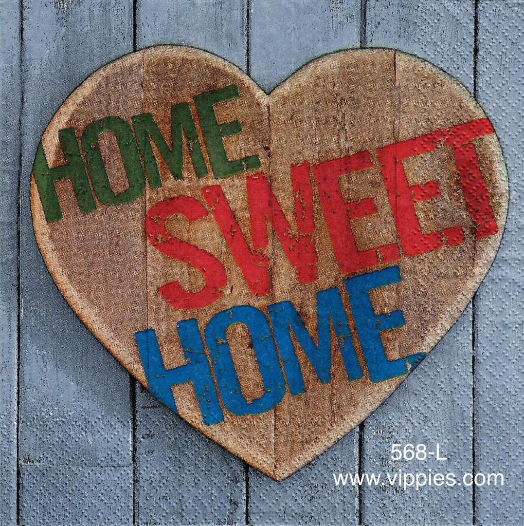 NS-568 Home Sweet Home Napkin for Decoupage