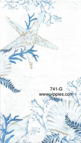 NS-741 Coastal Blue Guest Napkin for Decoupage