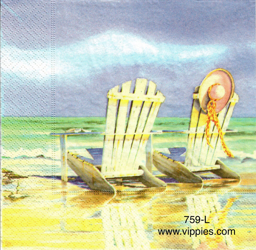 NS-759 Adirondack Chairs Napkin for Decoupage