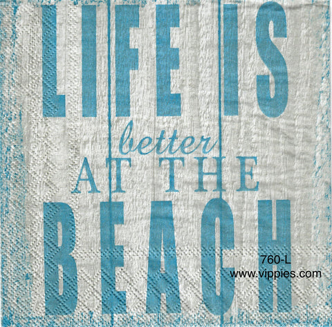 NS-760 Life is Better at Beach Napkin for Decoupage