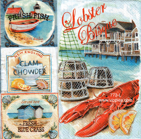 NS-773 Lobster Bisque Napkin for Decoupage
