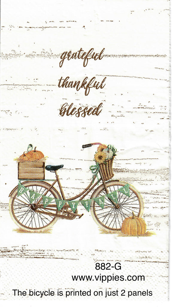 OBJ-882 Grateful Bicycle Guest Napkin for Decoupage