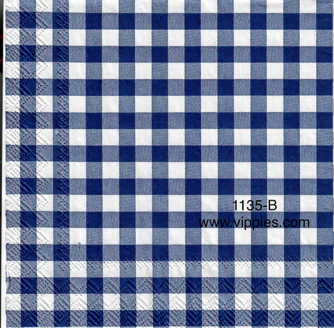 PAT-1135 Denim Gingham Checks Napkin for Decoupage