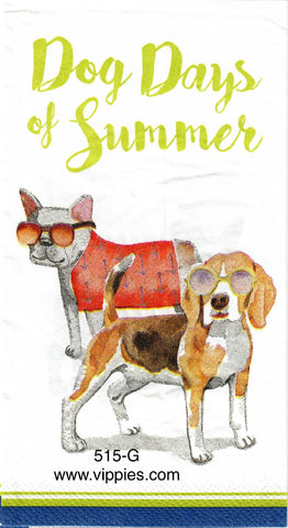 PAT-515 Dog Days Napkin for Decoupage
