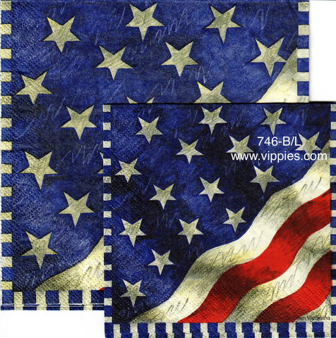 PAT-746 American Glory Flag Napkin for Decoupage