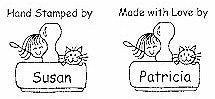 PS - Girl/Stamp/Cat Personalized Stamp - PS-1004