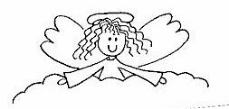 PSA - Greeting Angel Personalized Rubber Stamp - PSA-1057