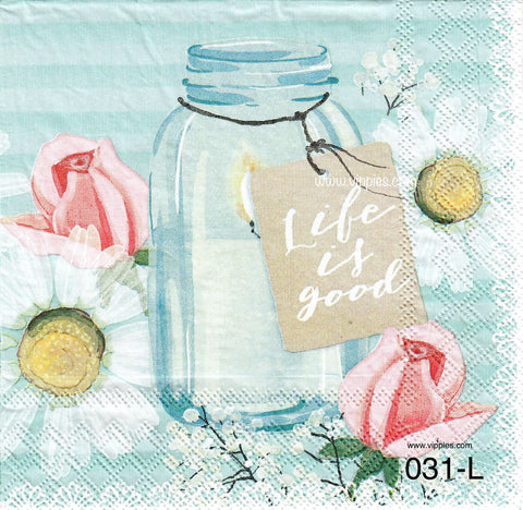 SNT-031 Life is Good Napkin for Decoupage