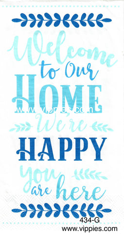 SNT-434 Welcome to Our Home Guest Napkin for Decoupage