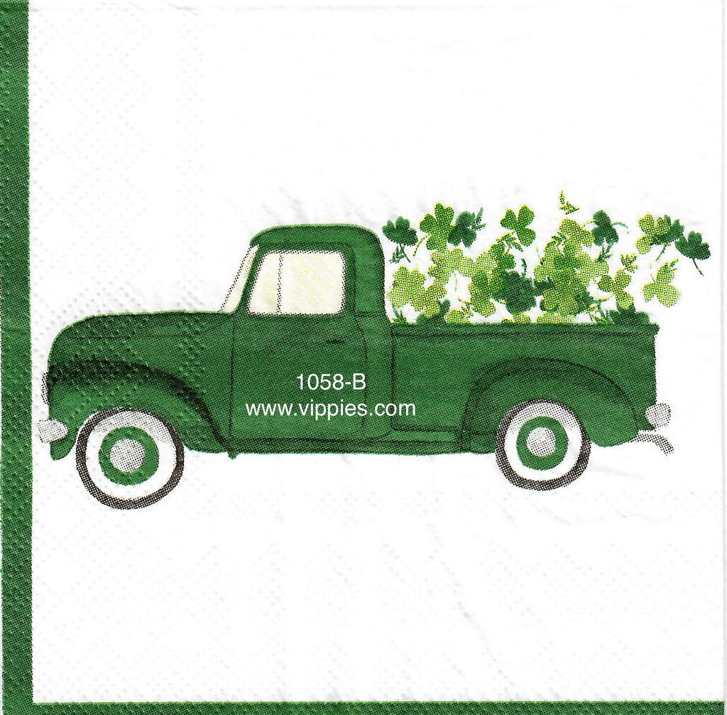 SPD-1058 Shamrock Pickup Napkin for Decoupage