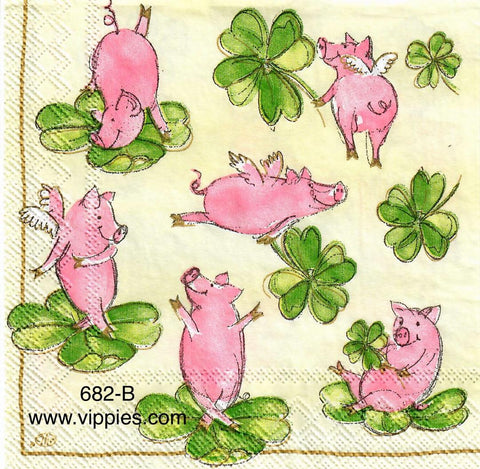 SPD-682 St. Pat Piggies Napkin for Decoupage