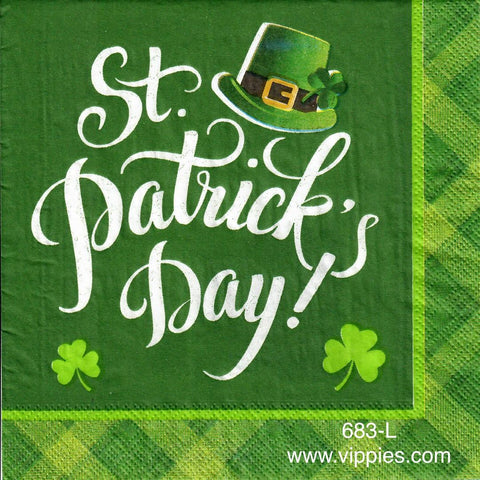 SPD-683 St. Patrick's Day Hat Napkin for Decoupage