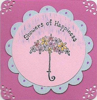 Showers of Happiness Rubber Stamp 2438C