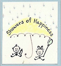 Baby Balloon Rubber Stamp 2174C