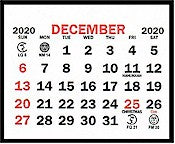 "Small 2021 Self-Stick Calendar Pads    1-3/4"" x 1-1/2"""
