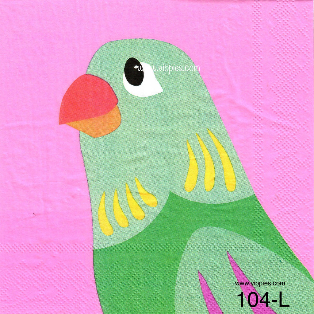 TRP-104 Parrot Napkin for Decoupage