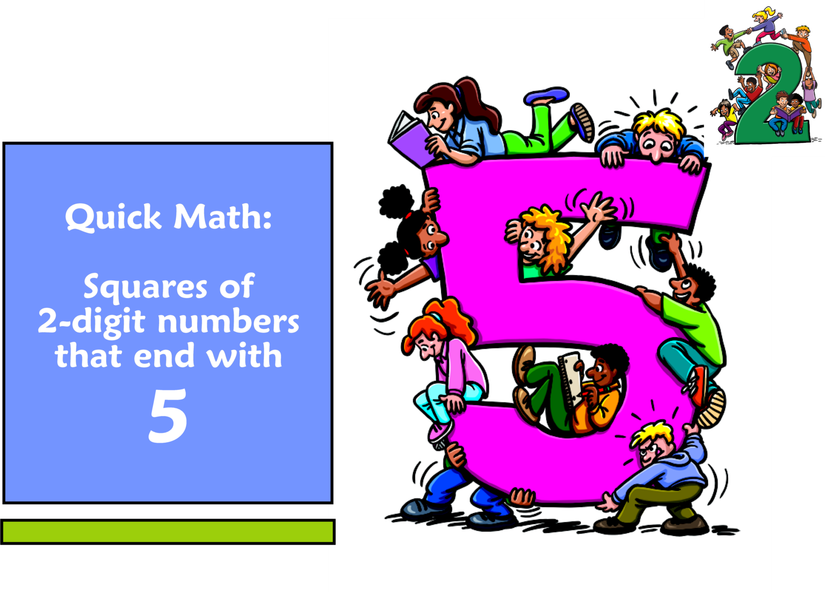 Quick Math: Find the Squares of Numbers That End With 5 - McRuffy Press