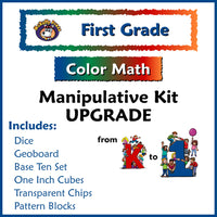 First Grade Color Math Manipulative Upgrade K to 1st Kit - McRuffy Press