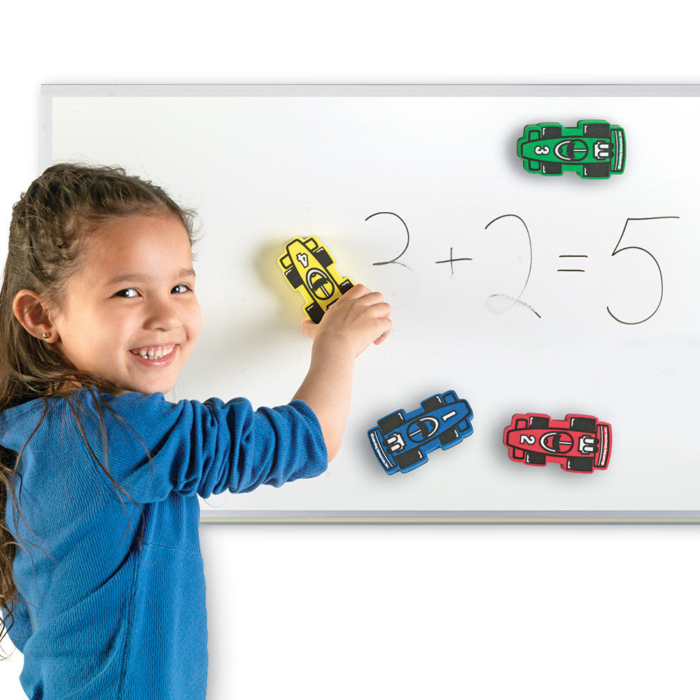 Magnetic Racecar Whiteboard Erasers - McRuffy Press