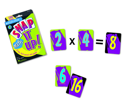 Snap It UP! Math Multiplication Card Game - McRuffy Press