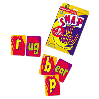 Snap It UP! Phonics: Word Families Card Game - McRuffy Press