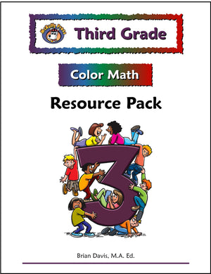 Third Grade Color Math Resource Pack - McRuffy Press
