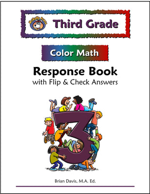 Third Grade Color Math Response Book - McRuffy Press