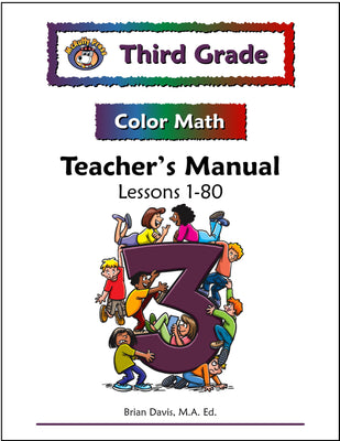 Third Grade Color Math Teacher's Manual Part 1 - McRuffy Press
